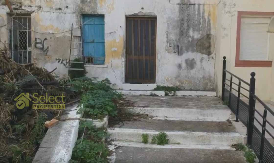 Chalepa plot house sale - Plot with old house for sale in Chalepa Chania
