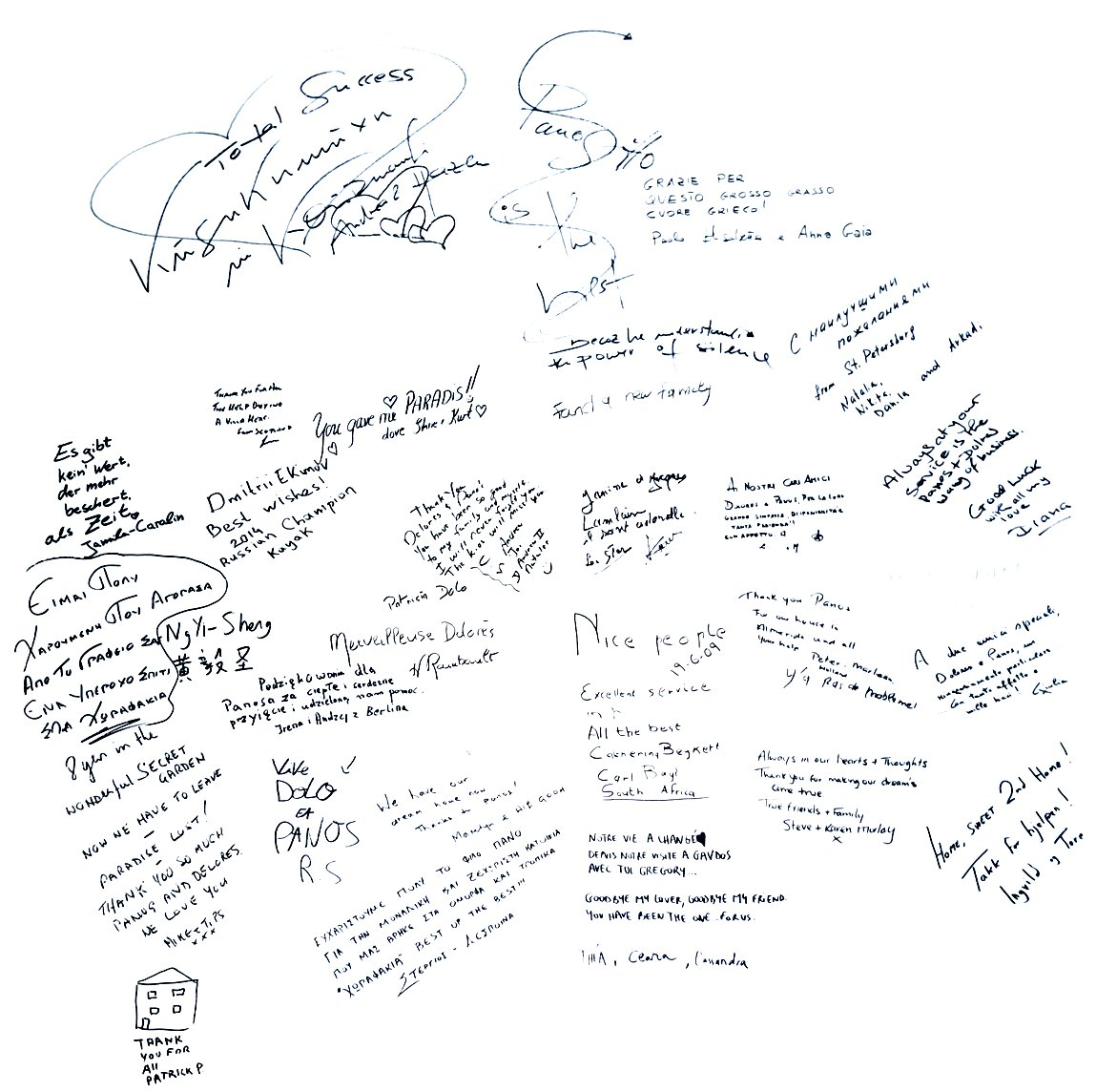Handwritting by our Clients
